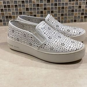 Michael Kors slip-on in White. Size 6.5.